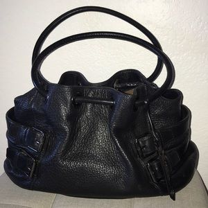 Cole Haan Black Pebble Leather Satchel